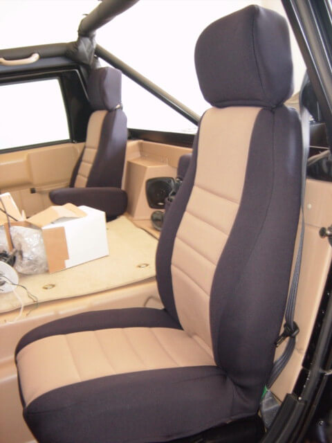 Hummer H2 Standard Color Seat Covers Rear Seats Wet