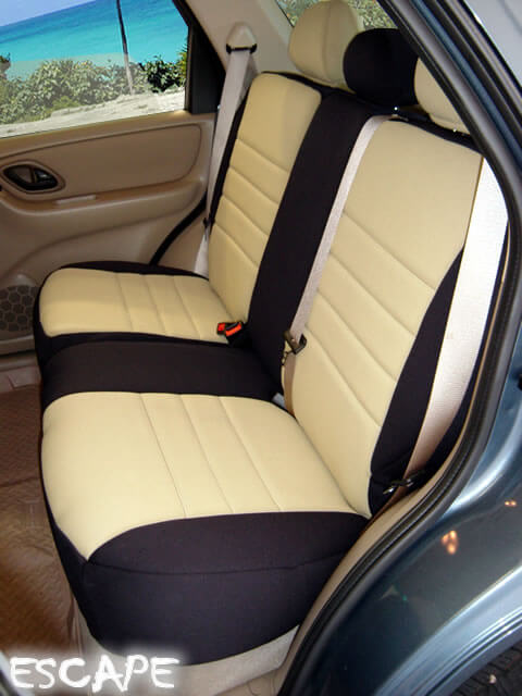 Ford Escape Seat Covers >> Ford Escape Standard Color Seat Covers - Rear Seats - Wet Okole Hawaii