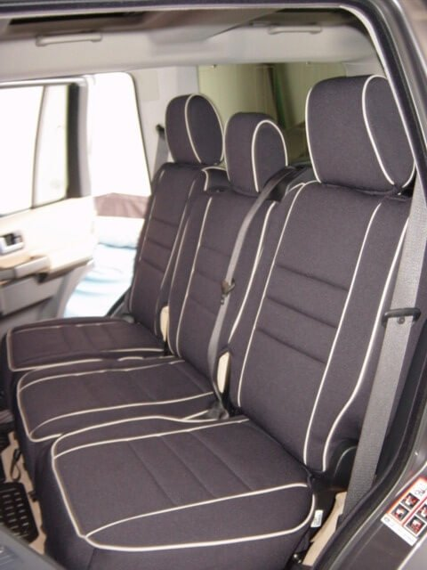 land rover lr3 full piping seat covers rear seats wet okole hawaii. Black Bedroom Furniture Sets. Home Design Ideas