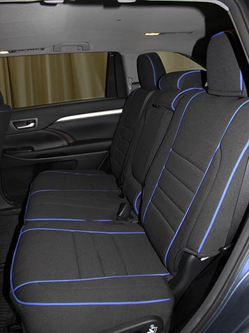 toyota highlander full piping seat covers rear seats wet okole hawaii. Black Bedroom Furniture Sets. Home Design Ideas