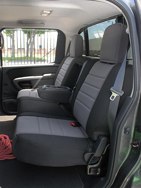 Pet Car Seat Covers >> Nissan Titan Standard Color Seat Covers - Rear Seats - Wet ...