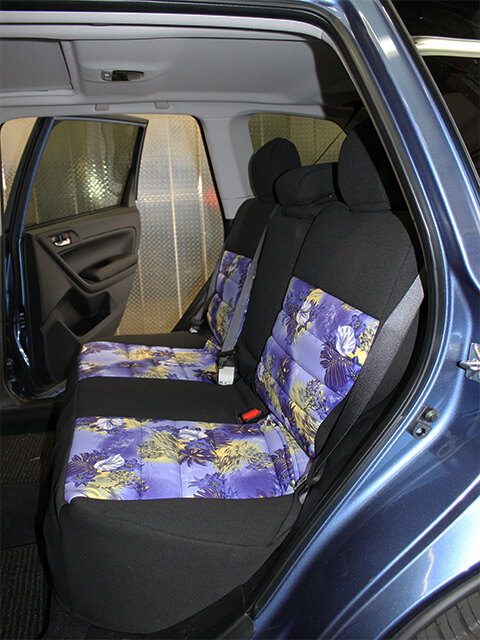 Subaru Forester Pattern Seat Covers Rear Seats Wet