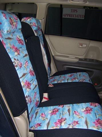 toyota highlander pattern seat covers middle seats wet okole hawaii. Black Bedroom Furniture Sets. Home Design Ideas