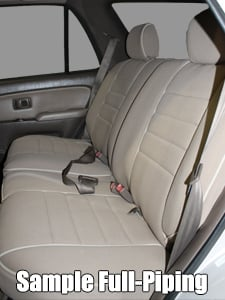 Audi 100/200 Full Piping Seat Covers - Rear Seats