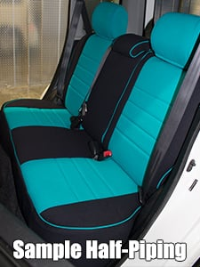 Audi 100/200 Half Piping Seat Covers - Rear Seats
