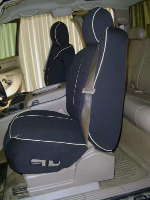 Elegant Chevrolet Silverado Full Piping Seat Covers