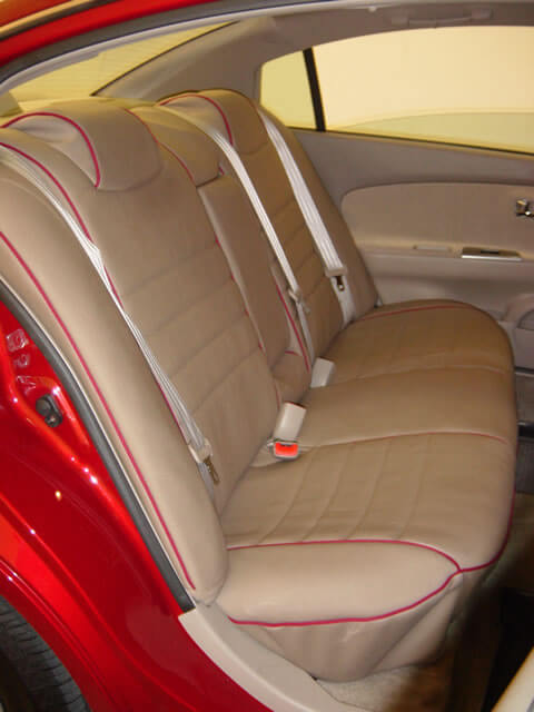 Awesome Nissan Altima Full Piping Seat Covers   Rear Seats