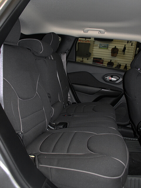 Jeep Cherokee Full Piping Seat Covers   Rear Seats