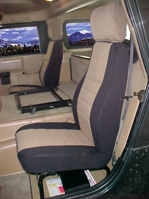 Hummer H1 Standard Color Seat Covers - Rear Seats - Wet ...