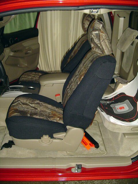 Toyota Tacoma Realtree Seat Covers Rear Seats Wet
