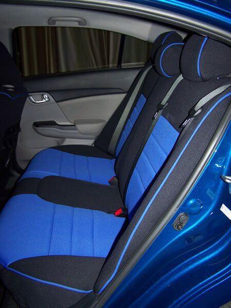Honda Accord Half Piping Seat Covers   Rear Seats