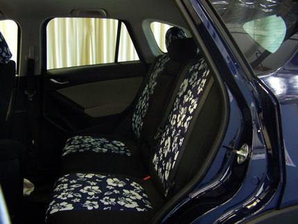 Mazda 5 Pattern Seat Covers   Rear Seats