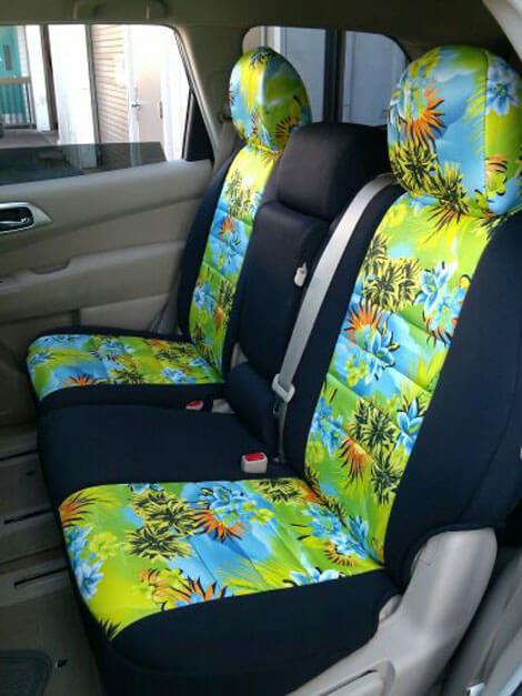 Nissan Pathfinder Pattern Seat Covers   Middle Seats