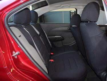 chevrolet sonic standard color seat covers rear seats wet okole hawaii. Black Bedroom Furniture Sets. Home Design Ideas